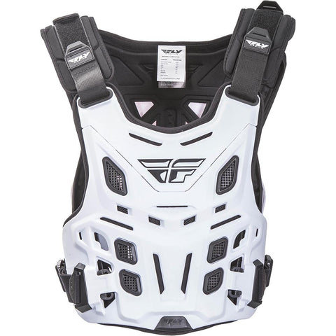 Fly Racing Revel Roost Motocross Dirtbike Adult Guard - White