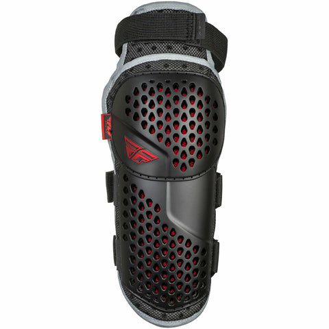 Fly Racing Barricade Flex Motocross Dirt Bike Youth Knee Guards - Black