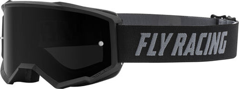Fly Racing Zone Pro Youth Goggles With Dark Smoke Lens W/Post - Black