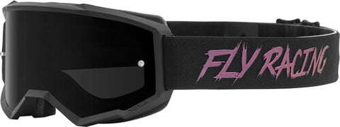 Fly Racing Zone Pro Youth Goggles With Dark Smoke Lens W/Post - Black/Fusion