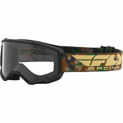 Fly Racing Focus Motorcycle Youth Goggles -Camo/Clear Lens