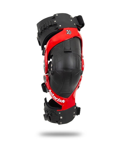 Asterisk Ultra Cell 3.0 Motorcycle Knee Braces Pair - Red