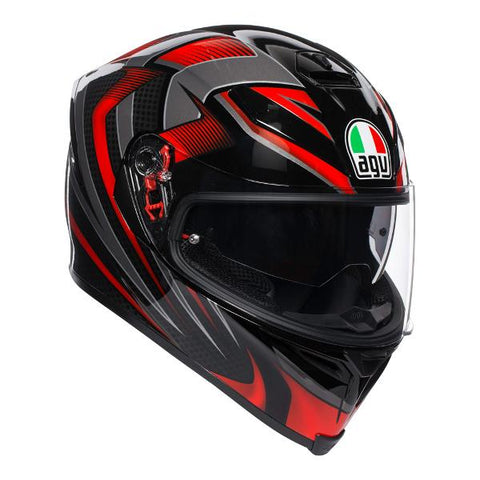 AGV K-5 S Hurricane 2.0 Motorcycle Helmet -  Black/Red