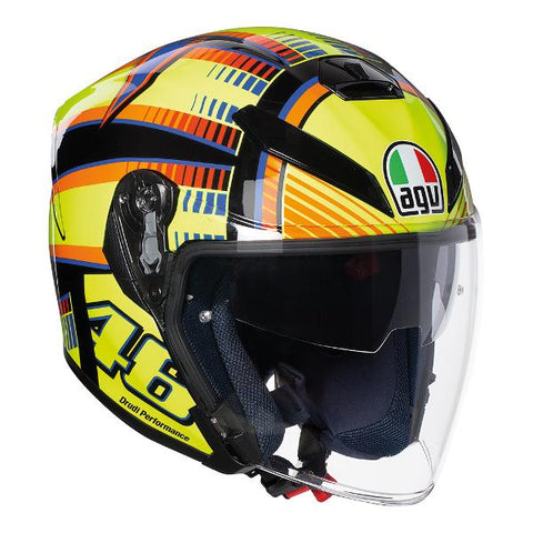 AGV K-5 JET Soleluna Motorcycle Helmet - Yellow/Black