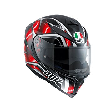 AGV K-5 S Hurricane Black/Red/White - MotoHeaven
