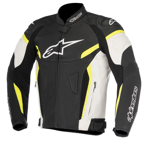 Alpinestars GP Plus R v2 AirFlow Leather Jacket Black/White/Fluro Yellow
