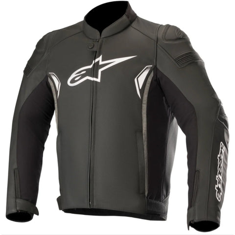 Alpinestars SP1 V2 Leather Motorcycle Jackets - Black/Dark/Grey
