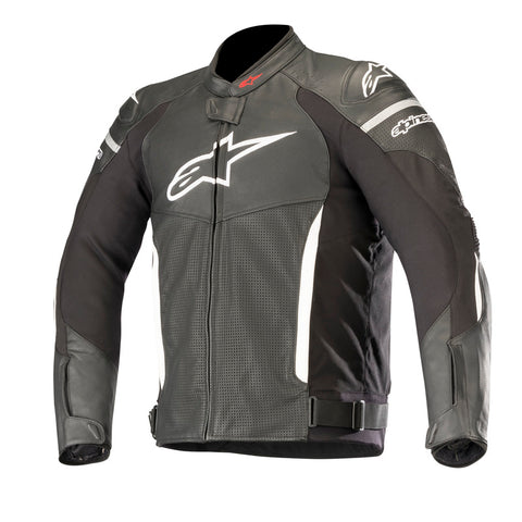 Alpinestars SPX Perforated Leather Motorcycle Jacket - Black/White