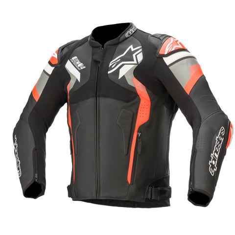 Alpinestars Atem V4 Motorcycle Jacket - Black/Grey Fluro/Red