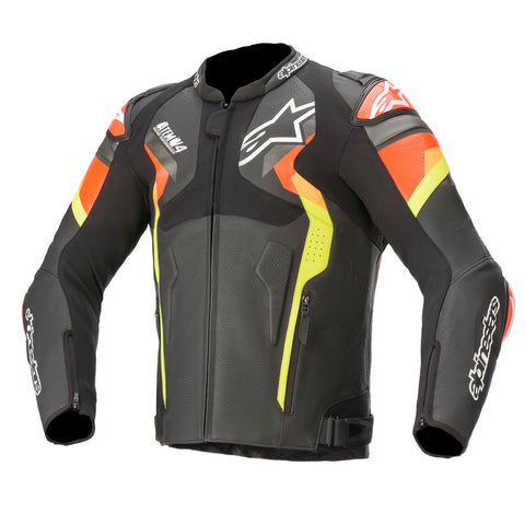 Alpinestars Atem V4 Motorcycle Jacket - Black/Fluro/Red/Fluro/Yellow