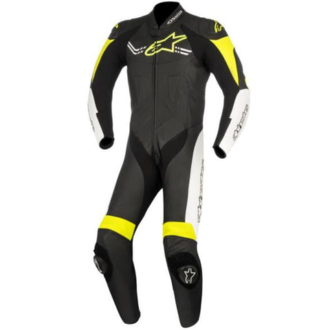 Alpinestars Mens Challenger v2 Leather Suit - Black/White/Yellow