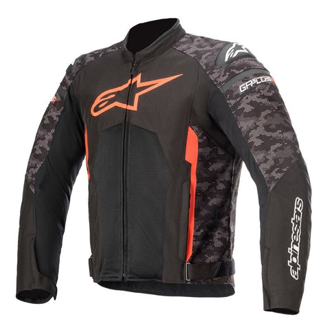 Alpinestars T-GP Plus R V3 Air Motorcycle Jacket - Black/Camo Red