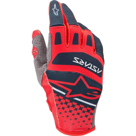 Alpinestars 2020 Techstar Motocross Gloves - Bright/Red/Navy
