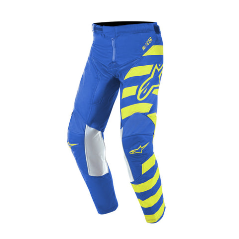Alpinestars 2019 MX Racer Braap Kids Pants - Blue/Fluro/Yellow