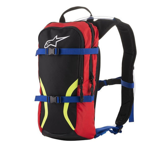 Alpinestars Iguana Hydration Backpack - Black/Blue/Red/Fluro Yellow