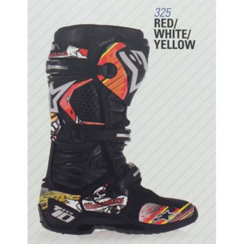 Alpinestars 14 Tech 10 Graphic Decal Kits - Red/Black/Yellow