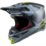 Alpinestars Super tech S-M10 Carbon Black/Grey/Fluro Yellow Helmet ECE 22.05