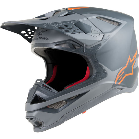 Alpinestars Supertech S-M10 Carbon Grey/Fluro Orange Helmet ECE 22.05