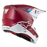 Alpinestars MX 2019 S-M8 Contact Motocross Helmet - Burgundy/Red/White
