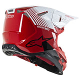 Alpinestars MX 2019 S-M10 Dyno Motocross Helmet - Gloss Red/White