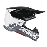 Alpinestars MX 2019 S-M8 Radium Motocross Helmet - Black/White/Grey
