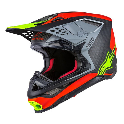 Alpinestars MX 2019 LE A1 Supertech S-M10 Motocross Helmet - Red/Fluro/Black