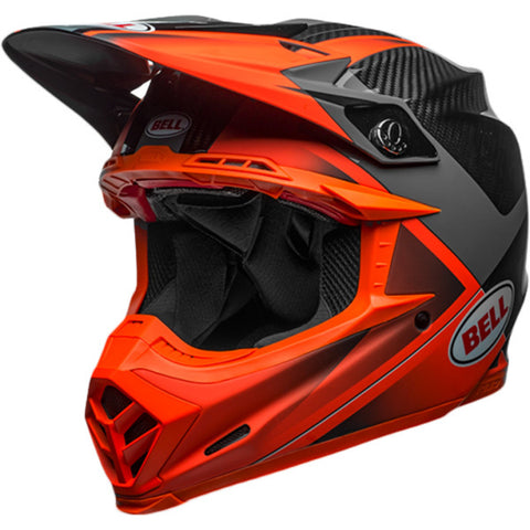 Bell 2018 Helmet Moto 9 Carbon Flex Hound Charcoal/Orange Helmet