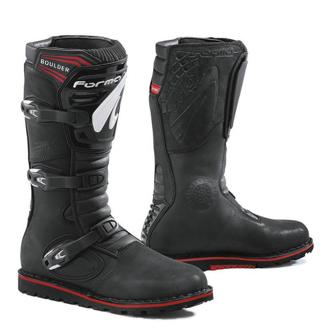 Forma Boulder Motorcycle Boots - Black