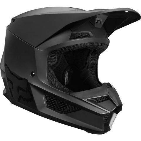 Fox 2019 V1 Motorcycle Kids Helmet - Matte Black