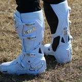 Fox 2019 Instinct Boots White/Silver/Chrome