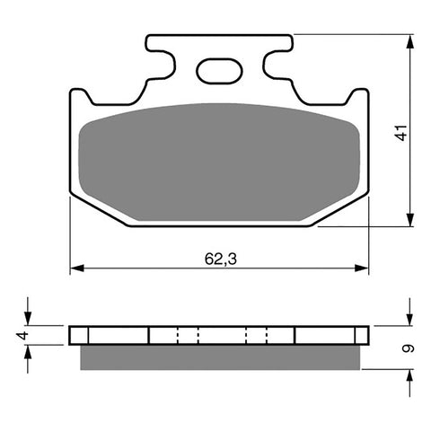BRAKE PADS GOLDFREN  GF001-K5