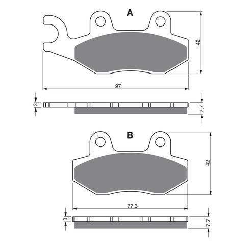 BRAKE PADS GOLDFREN  GF002-S3