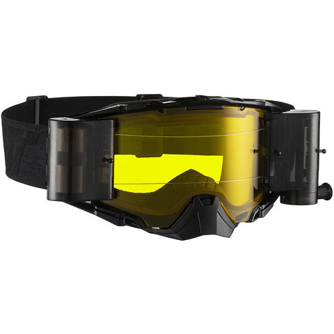 Leatt Velocity 6.5 Roll-Off MX Goggles - Black/Grey/Yellow