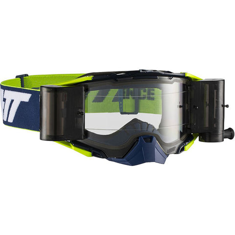 Leatt Velocity 6.5 Roll-Off MX Goggles - Ink/White/Yellow/Clear