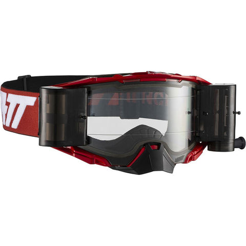 Leatt Velocity 6.5 Roll-Off MX Goggles - Red/White/Clear