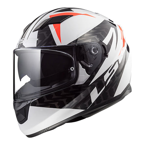 LS2 FF320 STREAM HELMET - COMMANDER WHITE/BLACK/RED