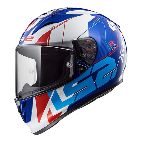 LS2 FF323 ARROW R HELMET - TECHNO WHITE/BLUE