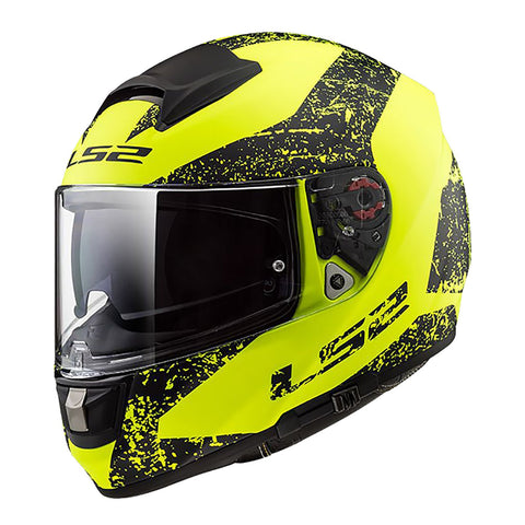 LS2 FF397 VECTOR HELMET - SIGN MATTE HI-VIS/BLACK