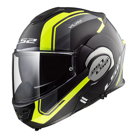 LS2 FF399 VALIANT HELMET - LINE MATTE BLACK/YELLOW