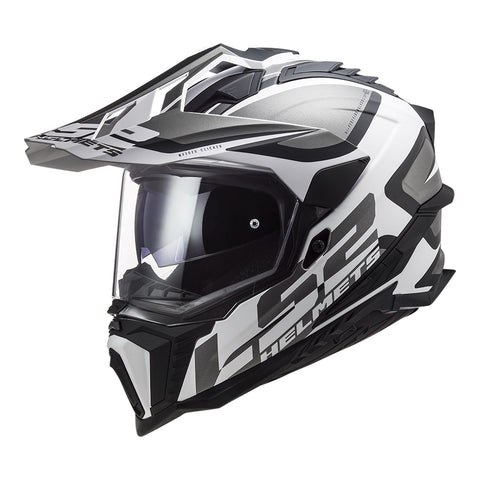 LS2 MX701 EXPLORER ALTER HELMET - MATTE BLACK / WHITE