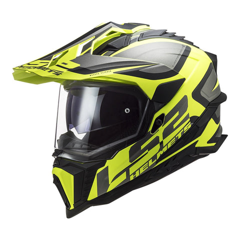 LS2 MX701 EXPLORER ALTER HELMET - MATTE BLACK / HI-VIS YELLO