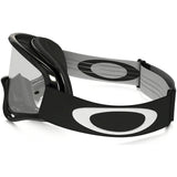 Oakley O-Frame MX Dirt Bike Motocross Clear Goggles - Jet Black
