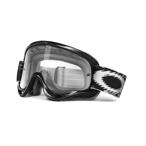 Oakley XS O-Frame MX Fibre Dirt Bike Motocross Clear Goggles - Matte Carbon