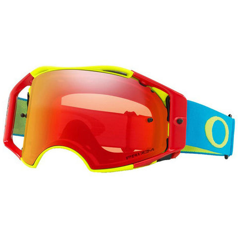 Oakley Airbrake MX Prizm Dirt Bike Motocross Goggles - Red/Green/Blue