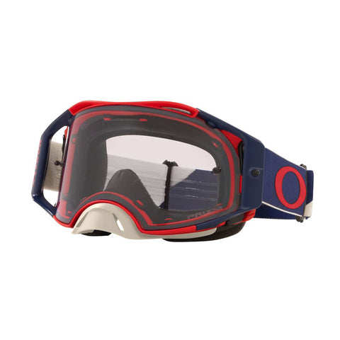 Oakley Airbrake B1B MX Goggles With Prizm Low Light Lens - Red/Navy