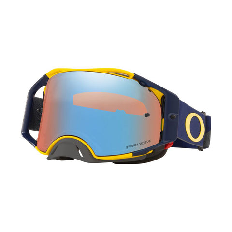 Oakley Airbrake B1B MX Goggles With Prizm Sapphire Iridium Lens - Yellow/Navy