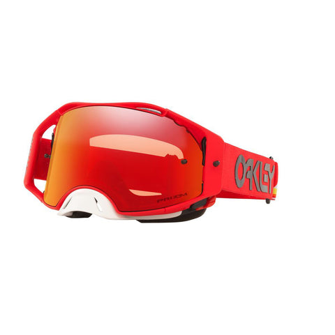 Oakley Airbrake Goggles With Prizm MX Torch Iridium Lens - Heritage Stripe Red