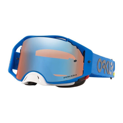 Oakley Airbrake Goggles With Prizm MX Torch Iridium Lens - Heritage Stripe Blue