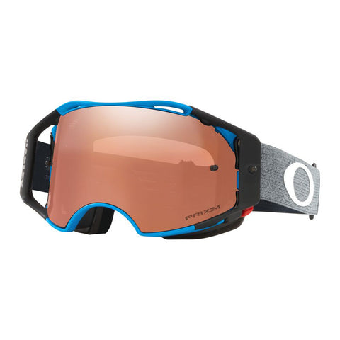 Oakley Airbrake MTB Prizm MX Black Iridium Motocross Goggles - Distress Blue