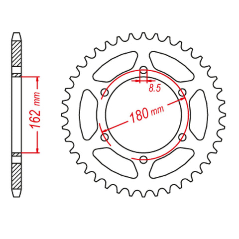 SPROCKET REAR MTX 1786 46T #520